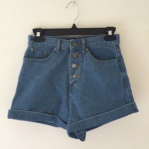 New | Missguided | High Waisted Denim Shorts